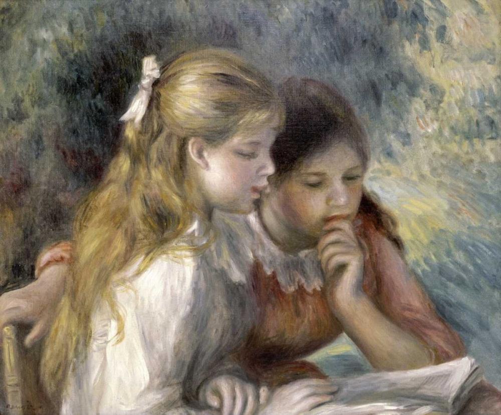 konfigurieren des Kunstdrucks in Wunschgröße La Lecture von Renoir, Pierre-Auguste