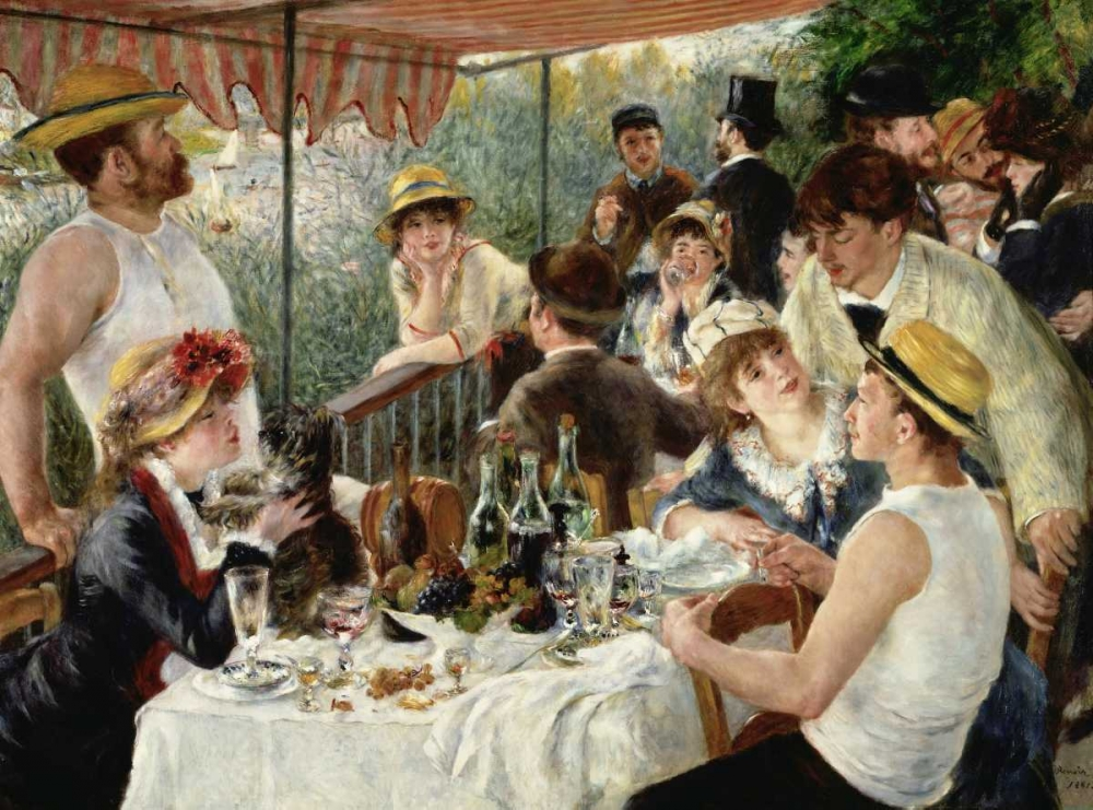 konfigurieren des Kunstdrucks in Wunschgröße Luncheon of the Boating Party von Renoir, Pierre-Auguste