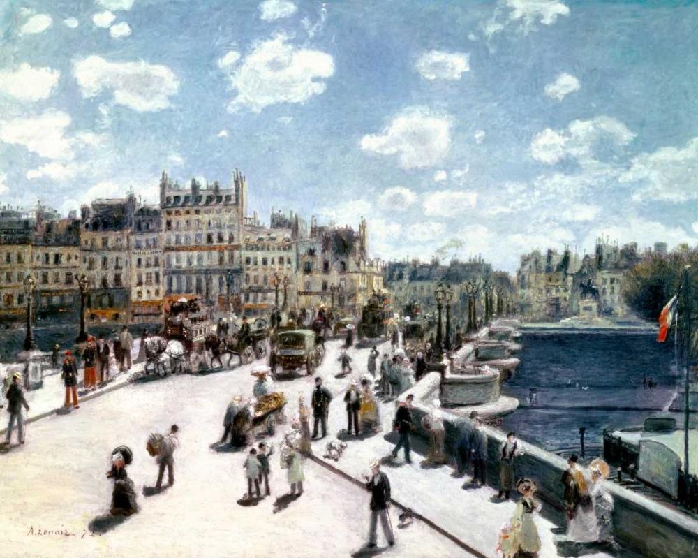 konfigurieren des Kunstdrucks in Wunschgröße Pont Neuf, Paris von Renoir, Pierre-Auguste