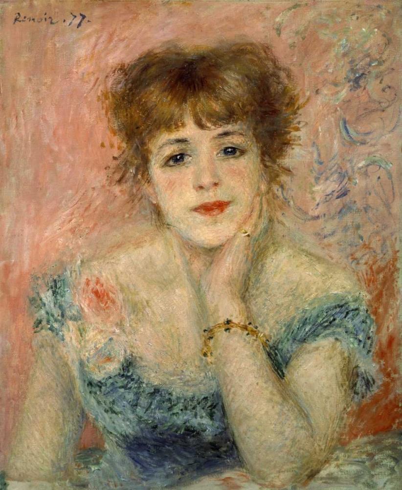 konfigurieren des Kunstdrucks in Wunschgröße Portrait of Actress Jeanne Samary von Renoir, Pierre-Auguste