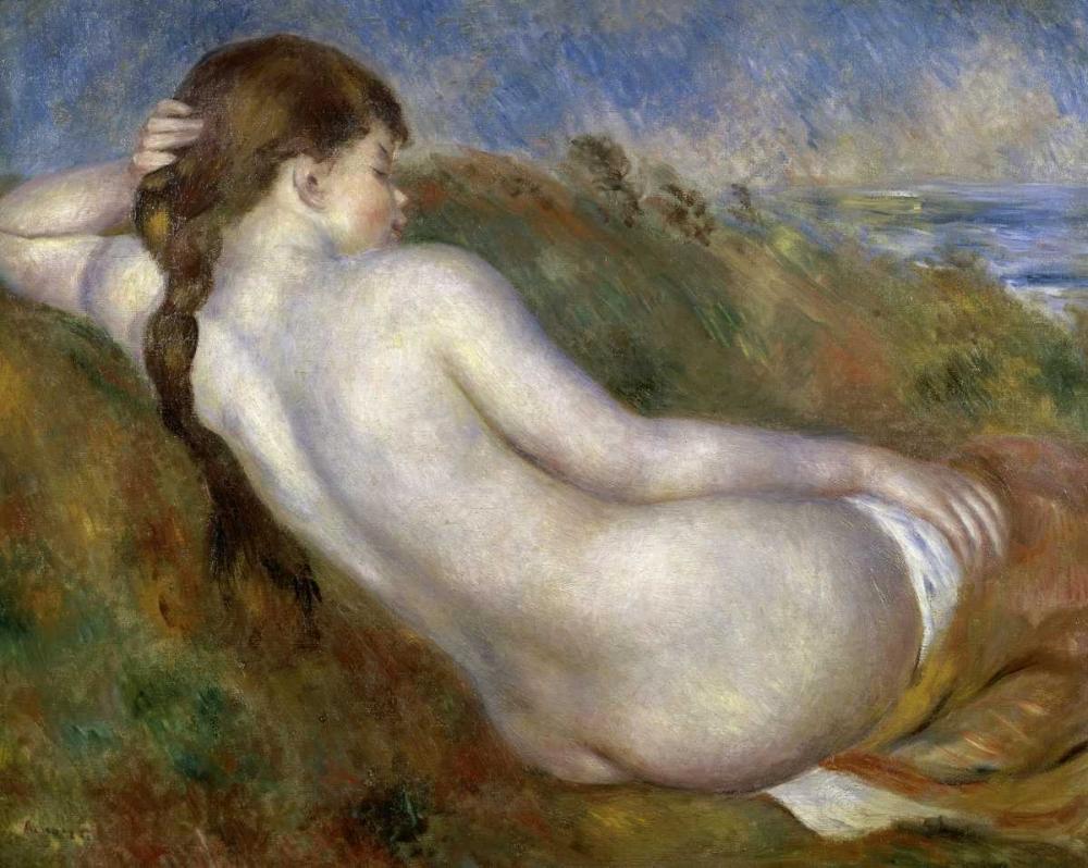 konfigurieren des Kunstdrucks in Wunschgröße Reclining Nude von Renoir, Pierre-Auguste