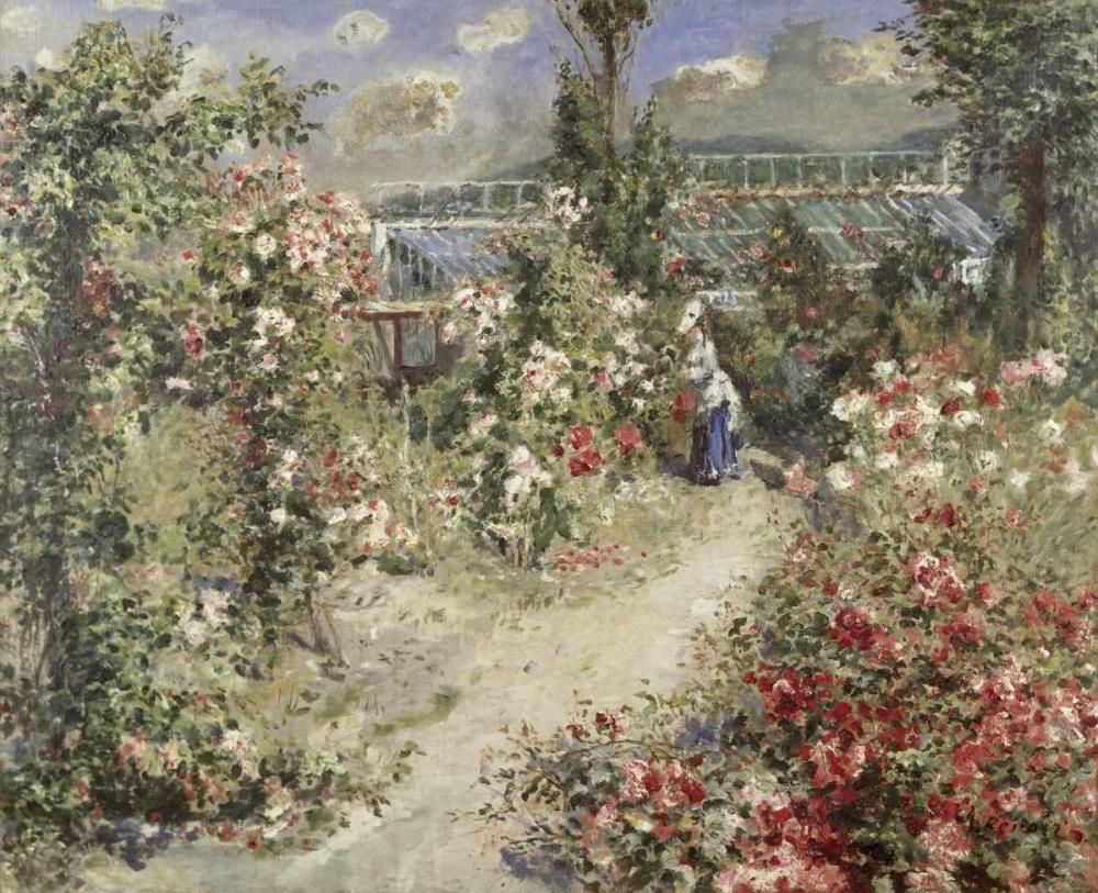 konfigurieren des Kunstdrucks in Wunschgröße The Greenhouse von Renoir, Pierre-Auguste
