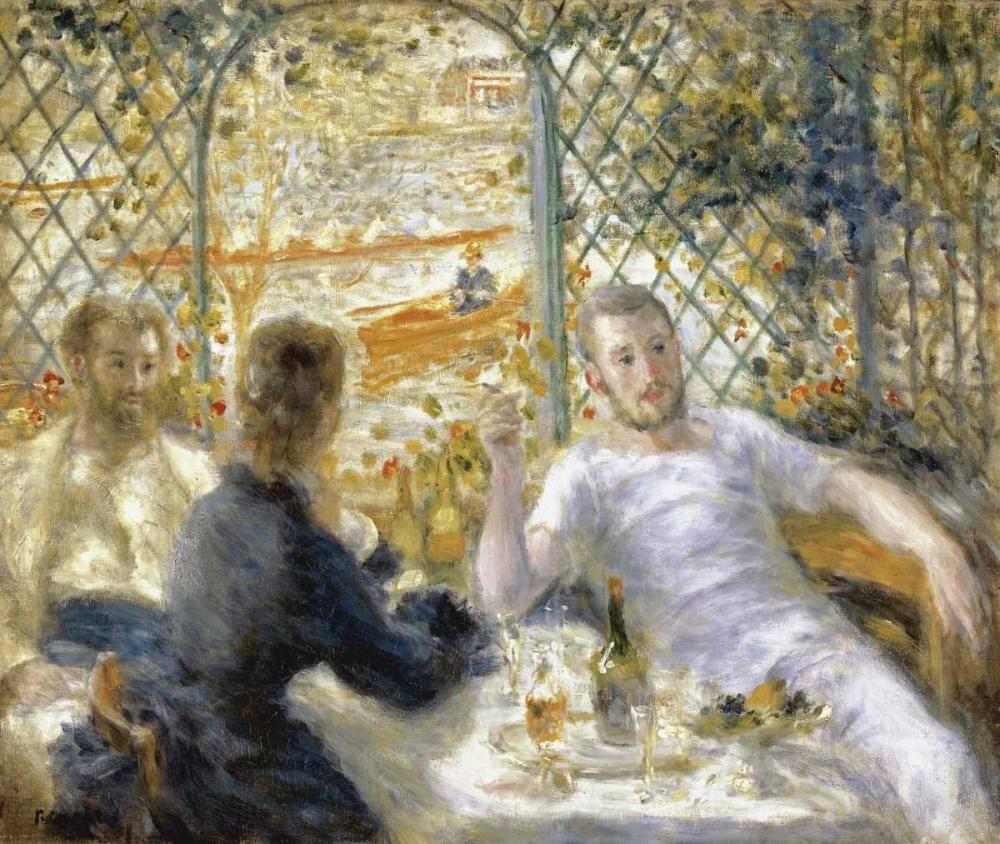 konfigurieren des Kunstdrucks in Wunschgröße The Rowers Lunch von Renoir, Pierre-Auguste