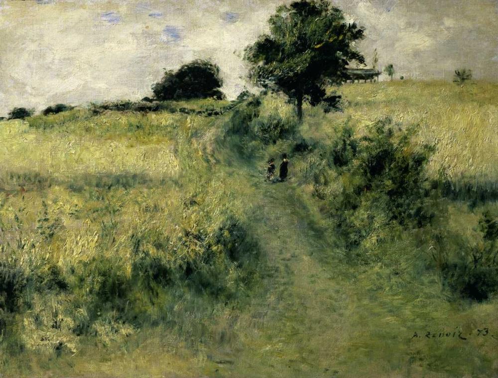 konfigurieren des Kunstdrucks in Wunschgröße Two People in a Field von Renoir, Pierre-Auguste