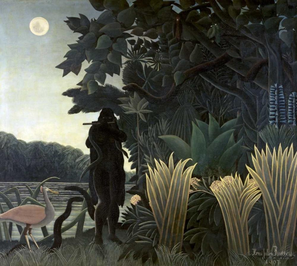 konfigurieren des Kunstdrucks in Wunschgröße The Snake Charmer von Rousseau, Henri