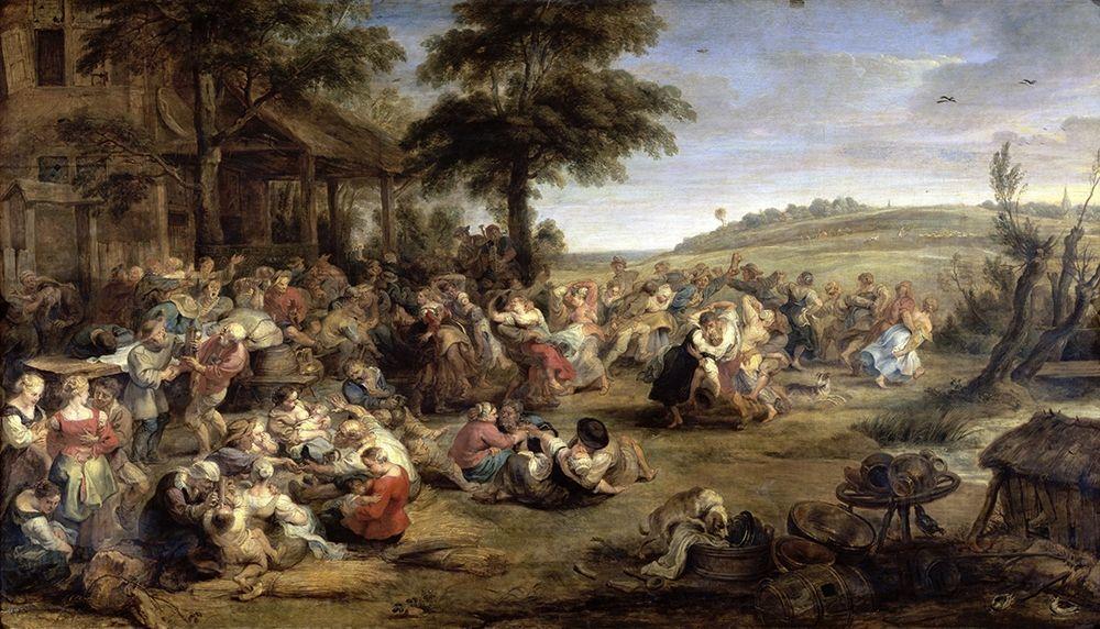 konfigurieren des Kunstdrucks in Wunschgröße A Village Wedding von Rubens, Peter Paul