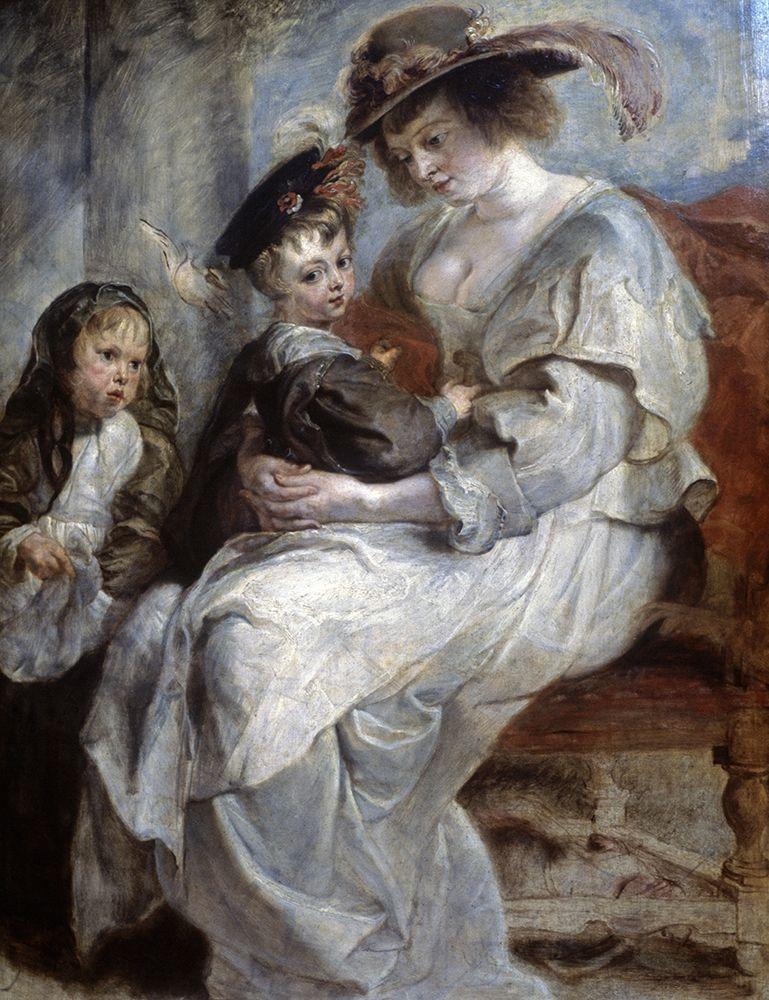konfigurieren des Kunstdrucks in Wunschgröße Helena Fourment and Children von Rubens, Peter Paul