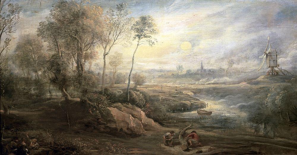 konfigurieren des Kunstdrucks in Wunschgröße Landscape With a Bird-Catcher von Rubens, Peter Paul