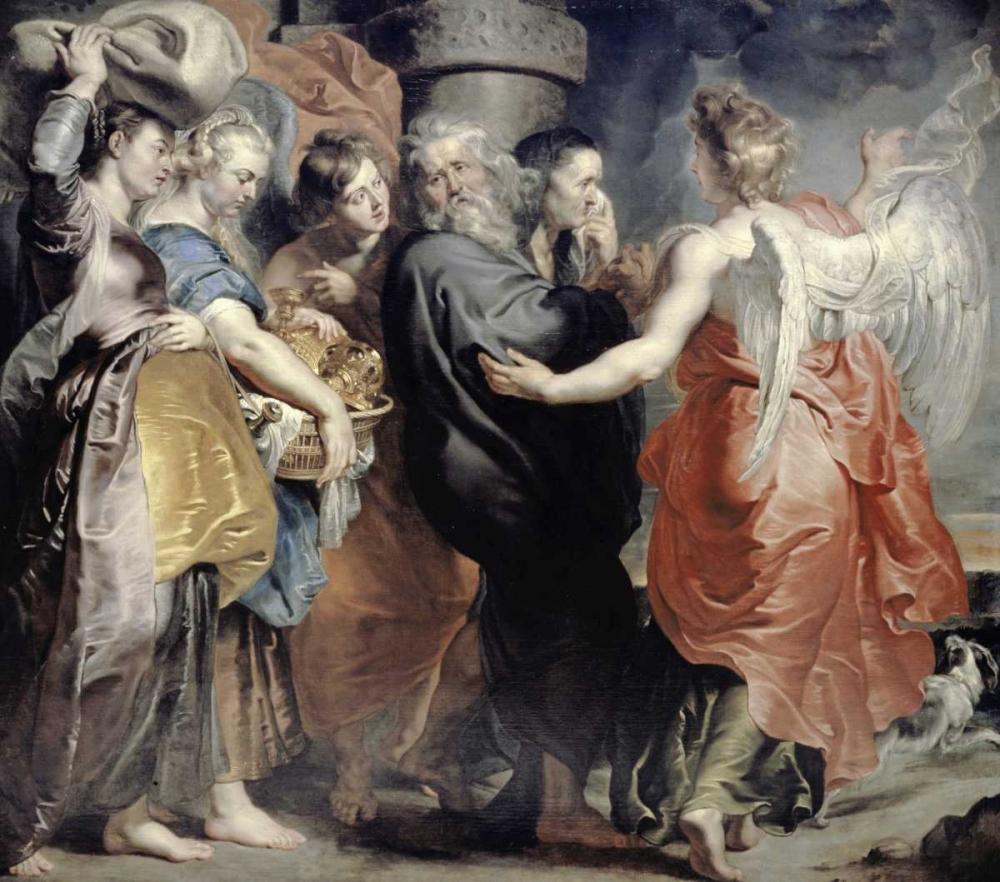 Lots Flight From Sodom von Rubens, Peter Paul <br> max. 94 x 84cm <br> Preis: ab 10€