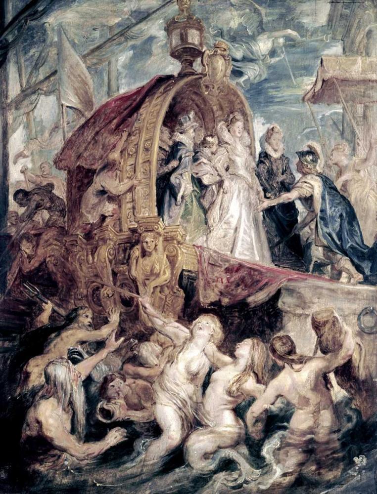 konfigurieren des Kunstdrucks in Wunschgröße Marie De Medici Arrives In Marseilles von Rubens, Peter Paul