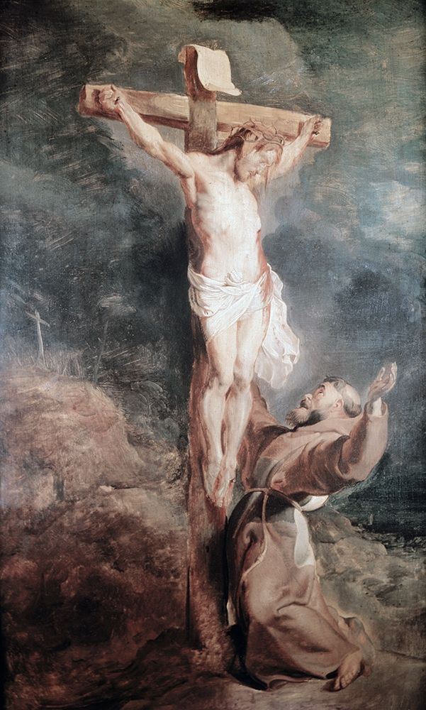 konfigurieren des Kunstdrucks in Wunschgröße Saint Francis Before The Crucified Christ von Rubens, Peter Paul