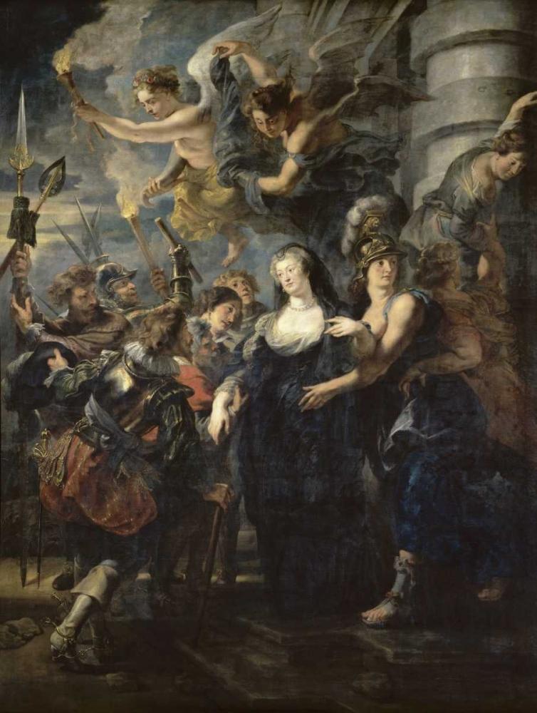 konfigurieren des Kunstdrucks in Wunschgröße The Flight From Blois - Life of Marie de Medici, Queen of France von Rubens, Peter Paul