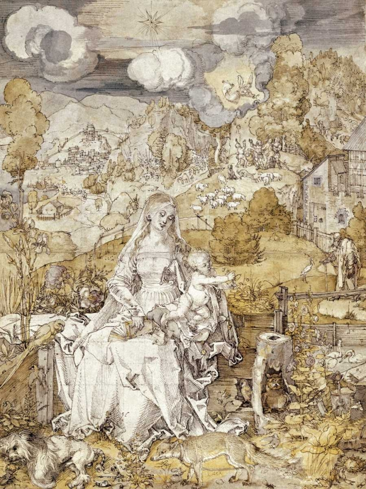 The Virgin with Animals, 1503 von Durer, Albrecht <br> max. 114 x 152cm <br> Preis: ab 10€