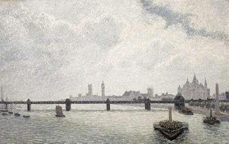 konfigurieren des Kunstdrucks in Wunschgröße Charing Cross Bridge, London von Sisley, Alfred