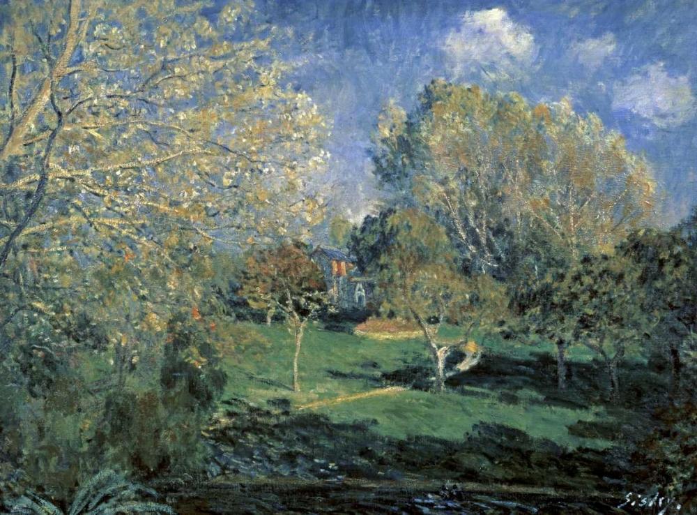 konfigurieren des Kunstdrucks in Wunschgröße Hoschede Gardens von Sisley, Alfred