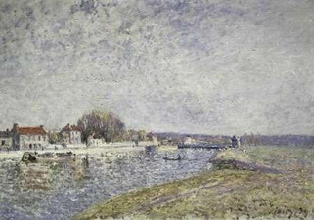 konfigurieren des Kunstdrucks in Wunschgröße Le Barage, Canal du Loins a Saint-Mammes von Sisley, Alfred