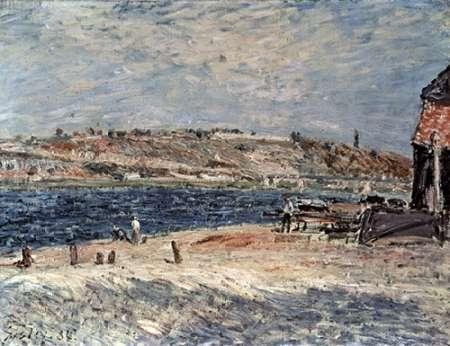 konfigurieren des Kunstdrucks in Wunschgröße Riverbank at Saint-Mammes von Sisley, Alfred