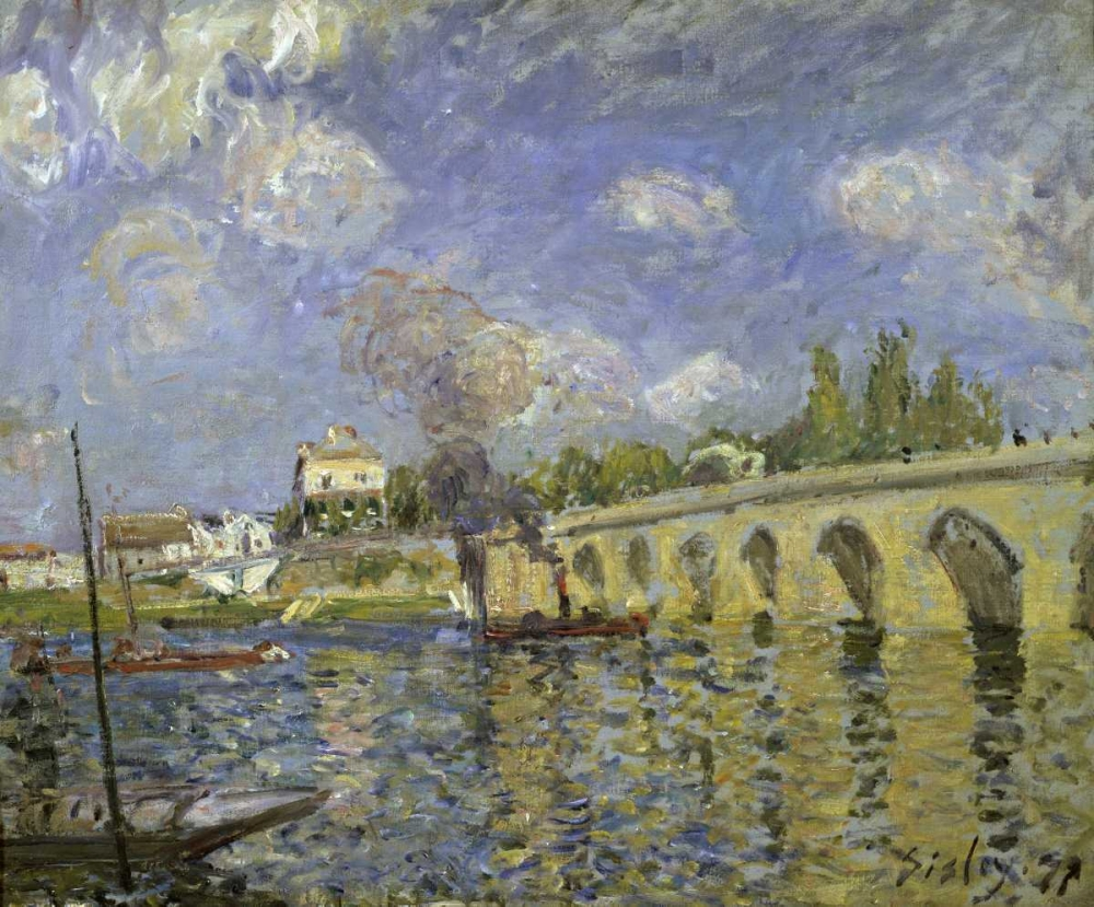 konfigurieren des Kunstdrucks in Wunschgröße The Bridge von Sisley, Alfred
