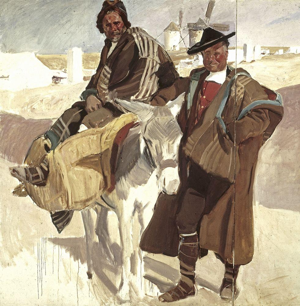 konfigurieren des Kunstdrucks in Wunschgröße Typical Men of La Mancha von Sorolla y Bastida, Joaquin