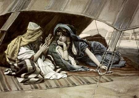 konfigurieren des Kunstdrucks in Wunschgröße Abrahams Counsel To Sarah von Tissot, James