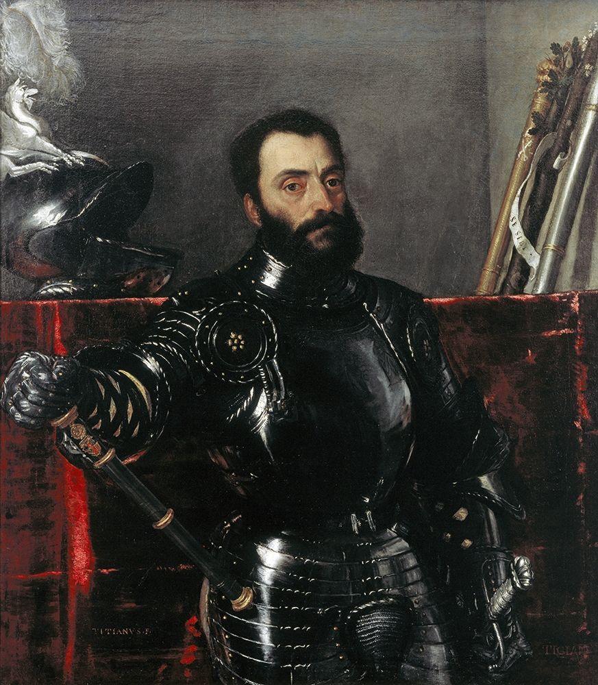 konfigurieren des Kunstdrucks in Wunschgröße Portrait of Francesco Maria Della Rovere, Duke of Urbino von Titian