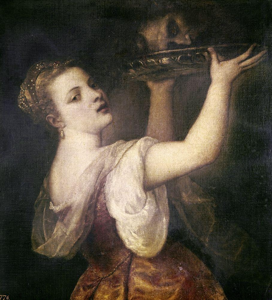 konfigurieren des Kunstdrucks in Wunschgröße Salome With The Head of John The Baptist von Titian