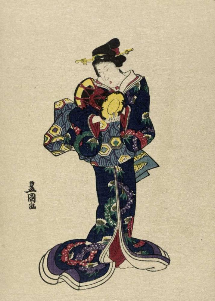konfigurieren des Kunstdrucks in Wunschgröße Kotsuzumi von Toyokuni, Utagawa