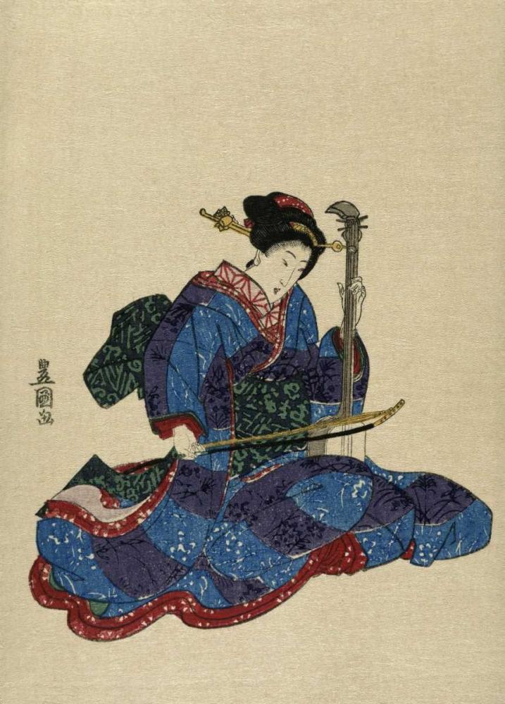 konfigurieren des Kunstdrucks in Wunschgröße Shamisen I von Toyokuni, Utagawa