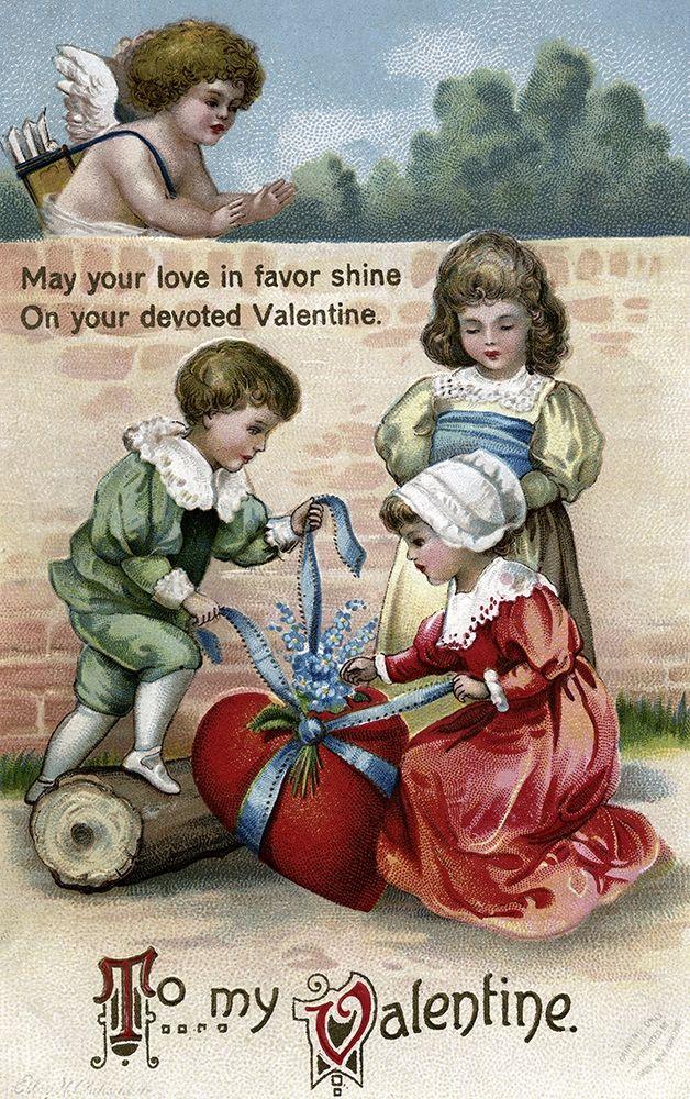 konfigurieren des Kunstdrucks in Wunschgröße May Your Love In Favor Shine On Your Devoted Valentine von Unknown