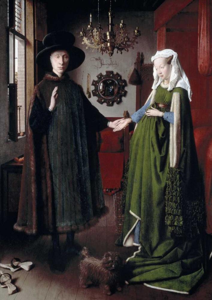 konfigurieren des Kunstdrucks in Wunschgröße Arnolfini Portrait von Van Eyck, Jan