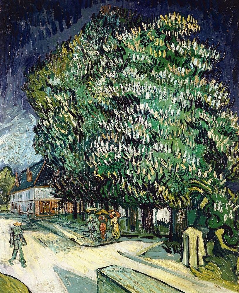 konfigurieren des Kunstdrucks in Wunschgröße Chestnut Trees in Blossom von Van Gogh, Vincent