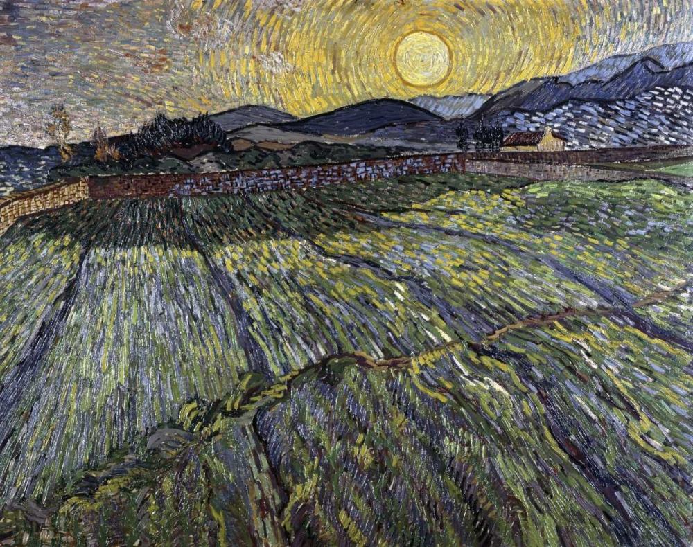 konfigurieren des Kunstdrucks in Wunschgröße Enclosed Field with Rising Sun, Saint-Remy von Van Gogh, Vincent