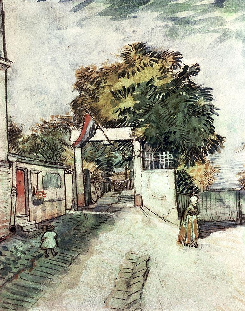 konfigurieren des Kunstdrucks in Wunschgröße Entrance to the Moulin De La Galette von Van Gogh, Vincent
