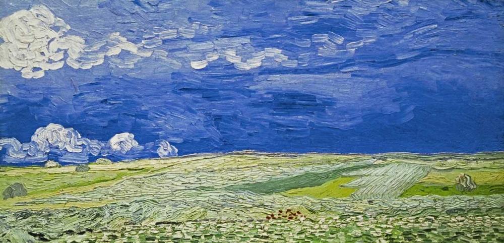 konfigurieren des Kunstdrucks in Wunschgröße Field under a Stormy Sky von Van Gogh, Vincent