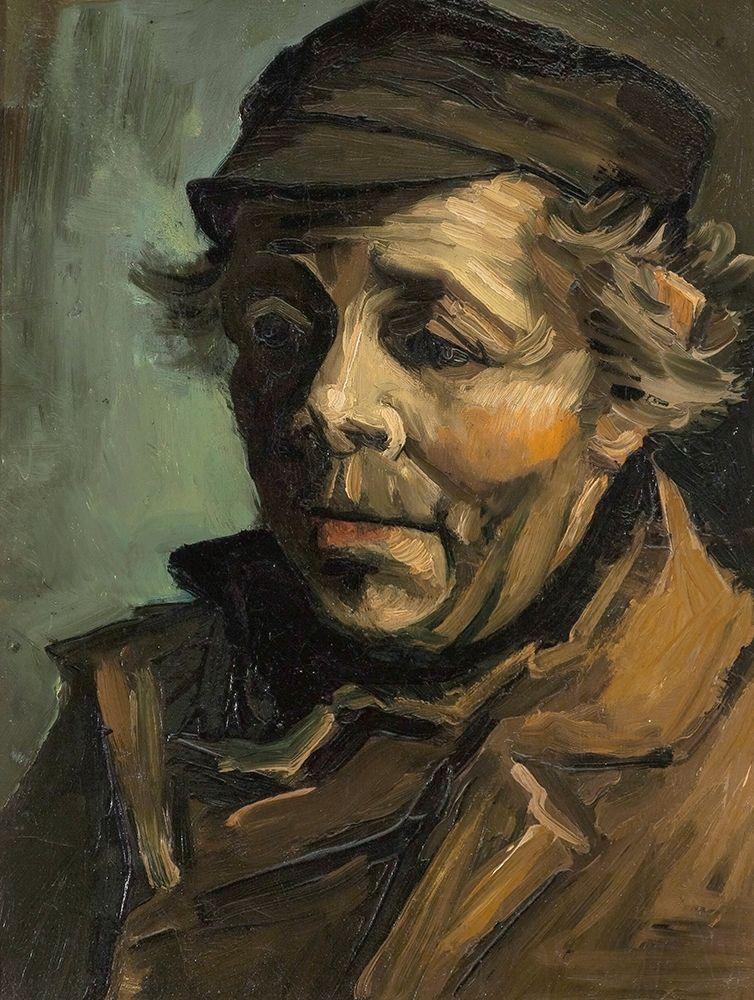 konfigurieren des Kunstdrucks in Wunschgröße Head of a Peasant with Cap von Van Gogh, Vincent