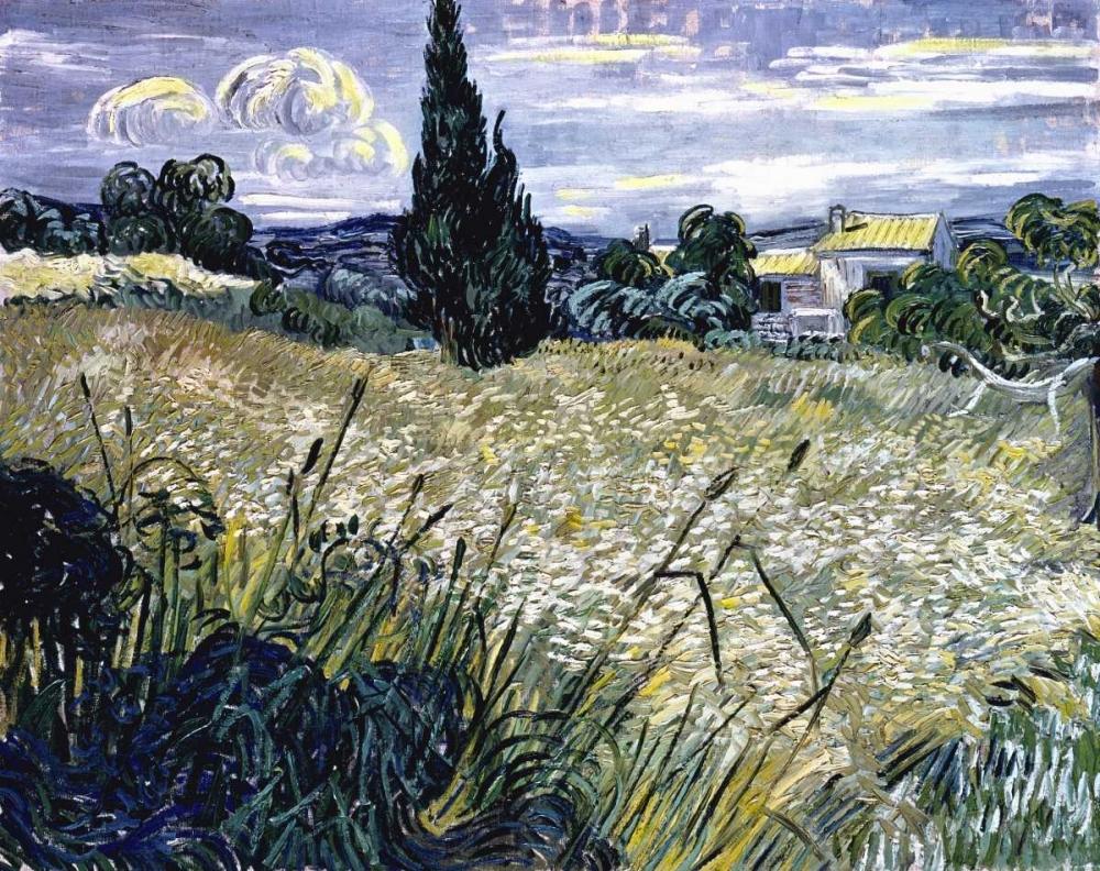 konfigurieren des Kunstdrucks in Wunschgröße Landscape with Green Corn von Van Gogh, Vincent