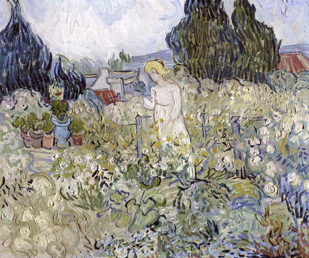 konfigurieren des Kunstdrucks in Wunschgröße Marguerite Gachet in the Garden at Auvers-Sur-Oise von Van Gogh, Vincent