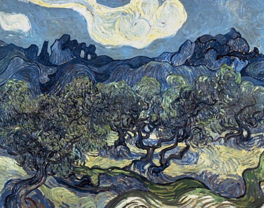 konfigurieren des Kunstdrucks in Wunschgröße Olive Trees With The Alpilles In The Background,Saint-Remy von Van Gogh, Vincent
