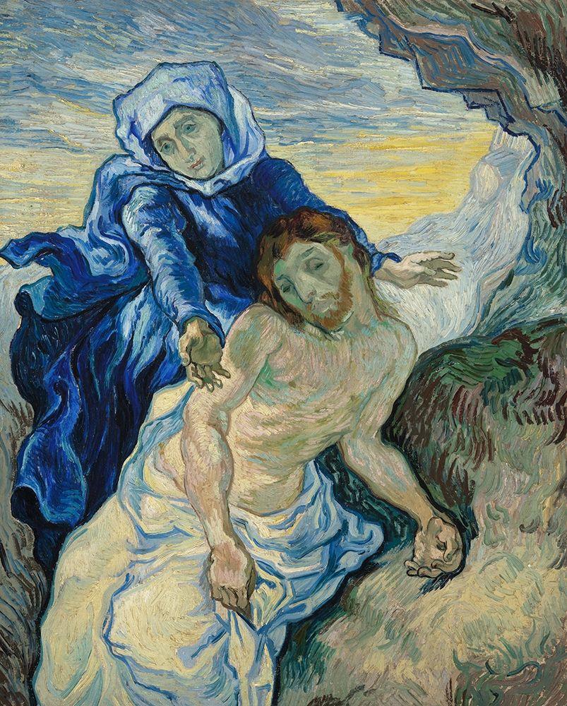 konfigurieren des Kunstdrucks in Wunschgröße Pieta (After Delacroix) von Van Gogh, Vincent