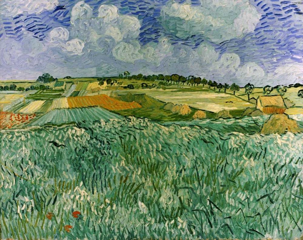 konfigurieren des Kunstdrucks in Wunschgröße Plain Near Auvers von Van Gogh, Vincent
