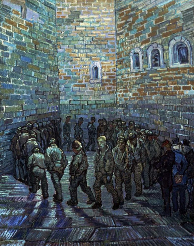 konfigurieren des Kunstdrucks in Wunschgröße Prisoners Exercising - After Dore von Van Gogh, Vincent