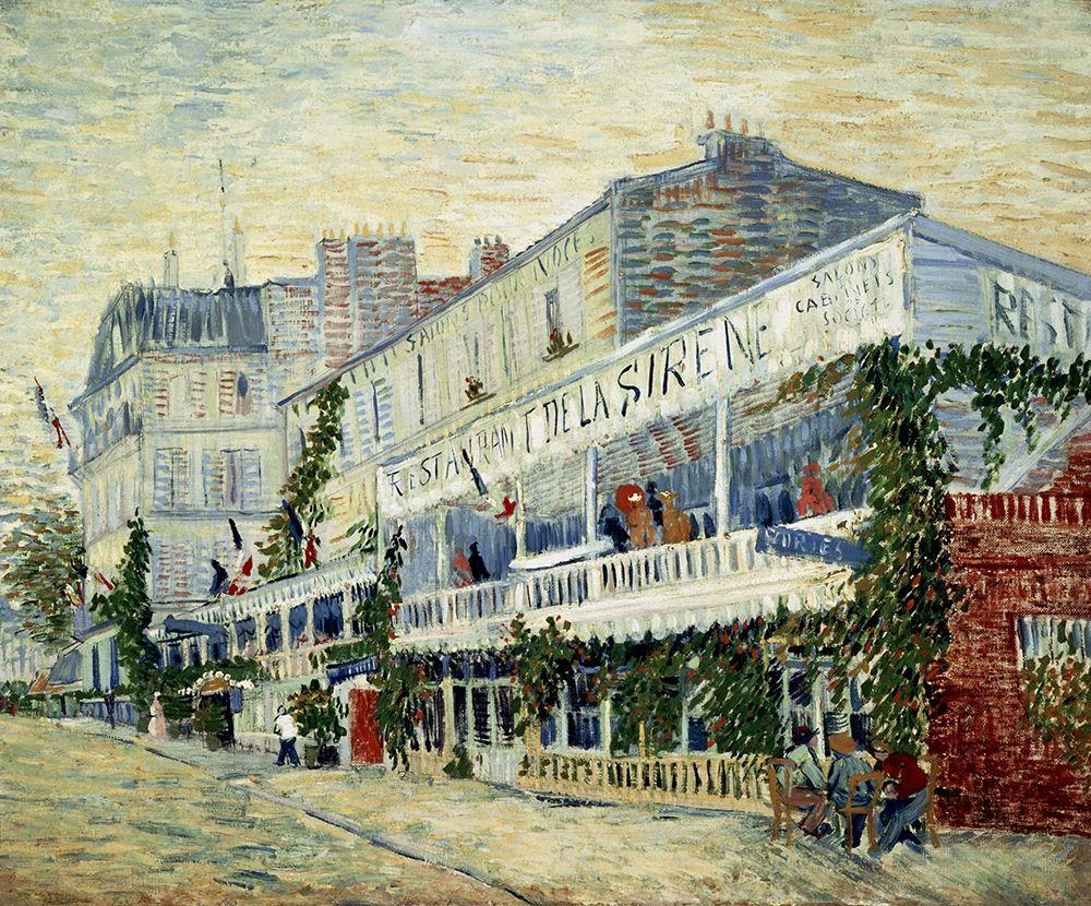 konfigurieren des Kunstdrucks in Wunschgröße Restaurant de la Sirene at Asnieres 1887 von Van Gogh, Vincent