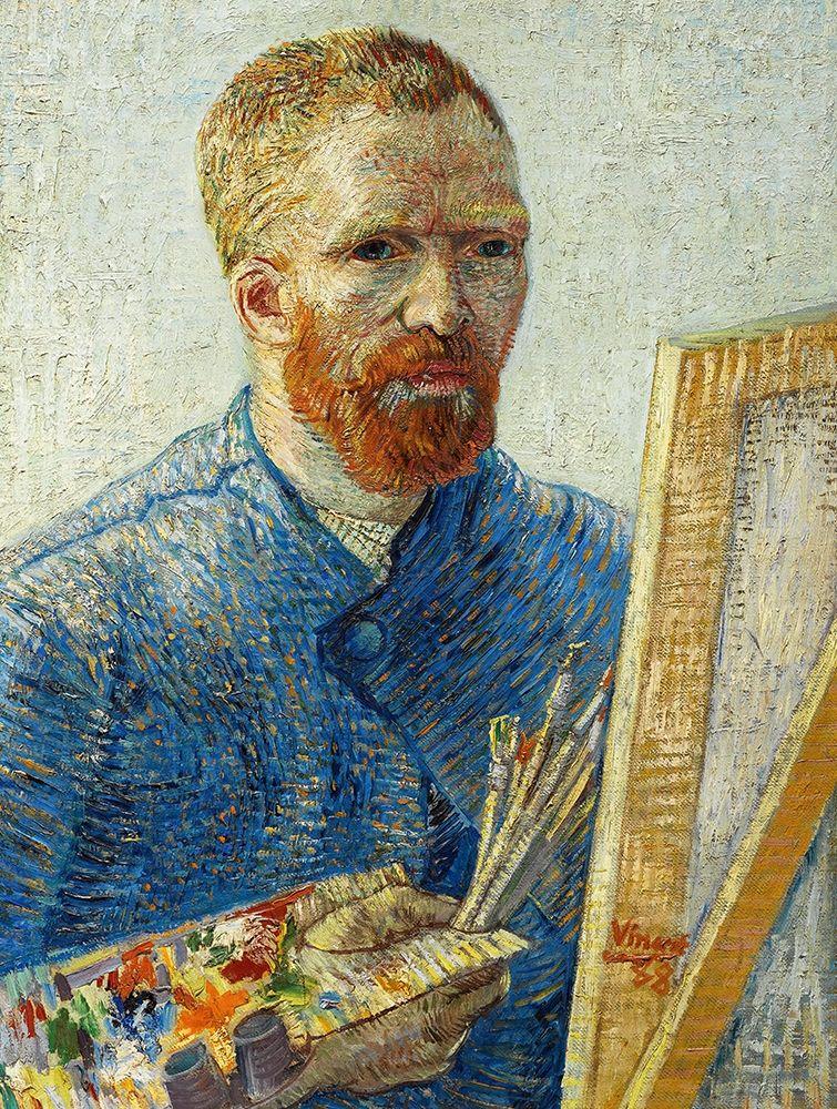 konfigurieren des Kunstdrucks in Wunschgröße Self Portrait in Front of Easel von Van Gogh, Vincent