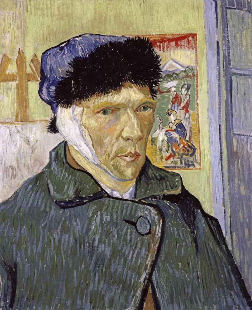 konfigurieren des Kunstdrucks in Wunschgröße Self Portrait With Bandaged Ear von Van Gogh, Vincent