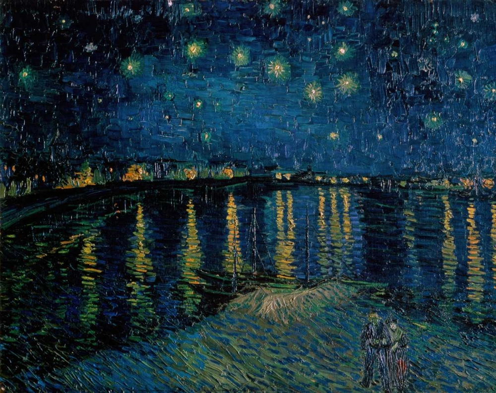 konfigurieren des Kunstdrucks in Wunschgröße Starlight Over the Rhone von Van Gogh, Vincent