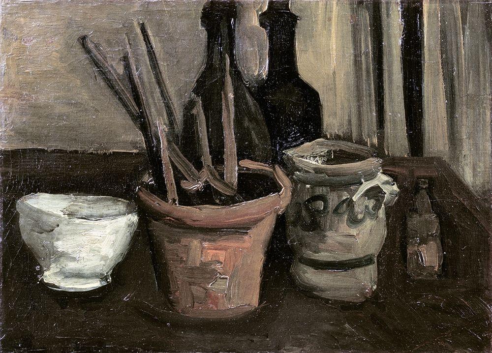 konfigurieren des Kunstdrucks in Wunschgröße Still Life with Paintbrushes in a Pot von Van Gogh, Vincent