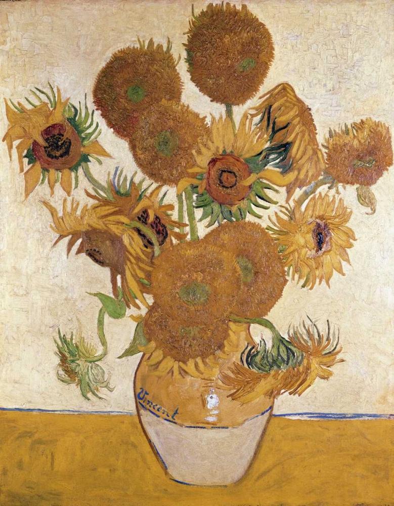 konfigurieren des Kunstdrucks in Wunschgröße Sunflowers, 1888 von Van Gogh, Vincent