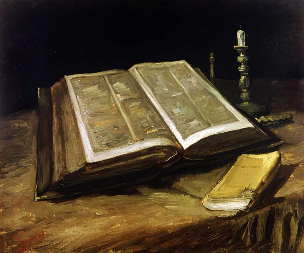 konfigurieren des Kunstdrucks in Wunschgröße The Bible: Still Life von Van Gogh, Vincent