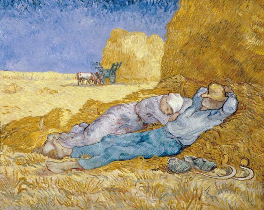 konfigurieren des Kunstdrucks in Wunschgröße The Siesta - La Siesta von Van Gogh, Vincent