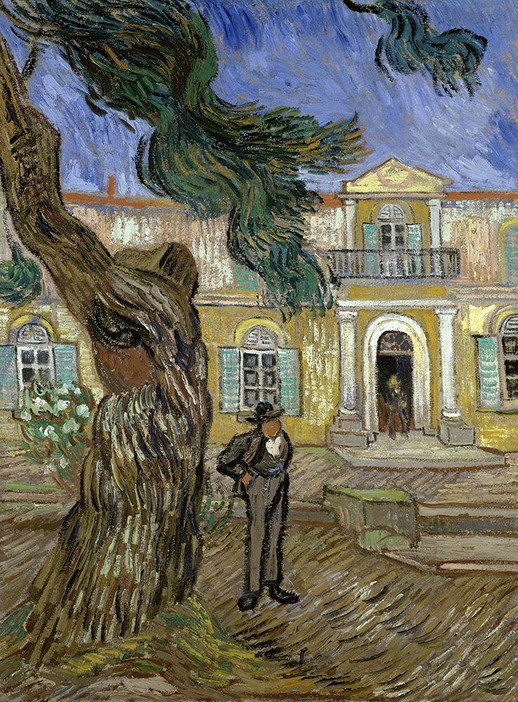 konfigurieren des Kunstdrucks in Wunschgröße Tree and Man (Saint Paul Hospital at Saint Remy) von Van Gogh, Vincent